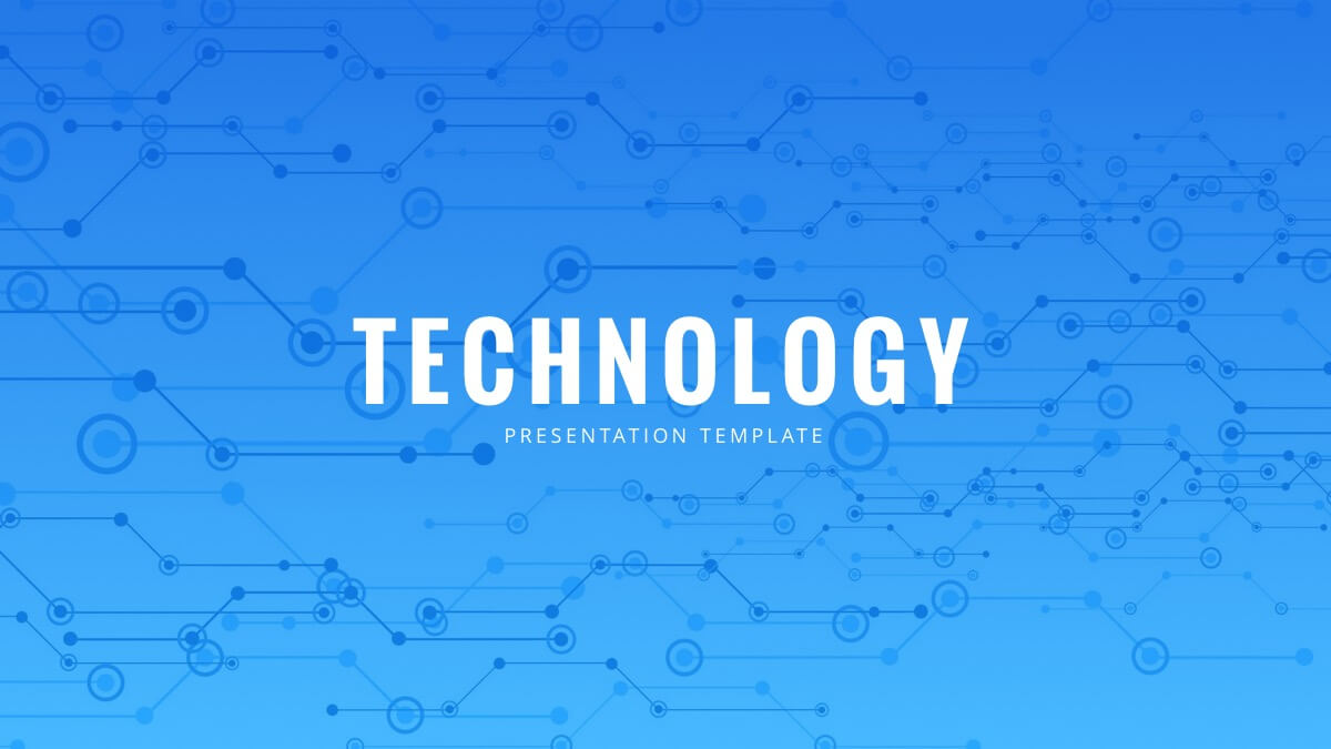 blue tech free powerpoint template - powerpointify, Blue Presentation Template, Presentation templates