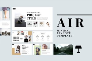 air minimal free powerpoint template