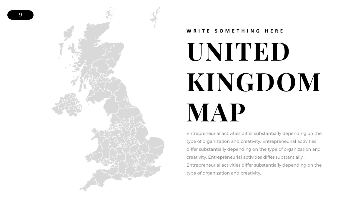 Map Of Uk Template.Free Powerpoint Templa Uk Map Berkshireregion