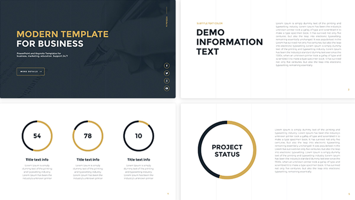 Business Gold Free Powerpoint Template Presentations On Powerpointify