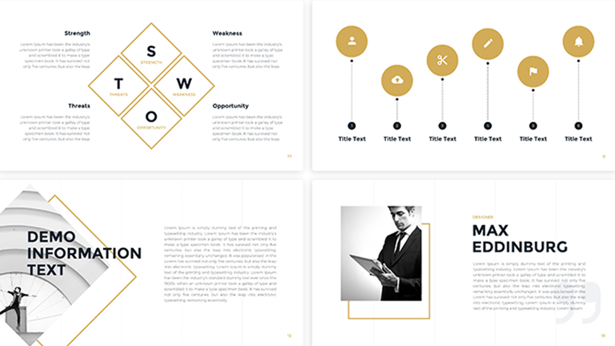 Business gold free powerpoint template presentations on powerpointify business gold free powerpoint template slide 4 accmission Images