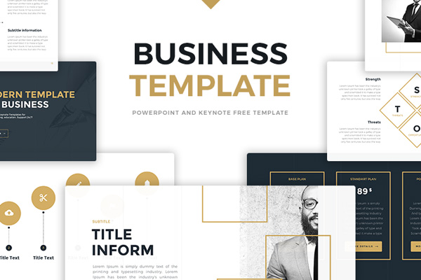 Business gold free powerpoint template presentations on powerpointify toneelgroepblik