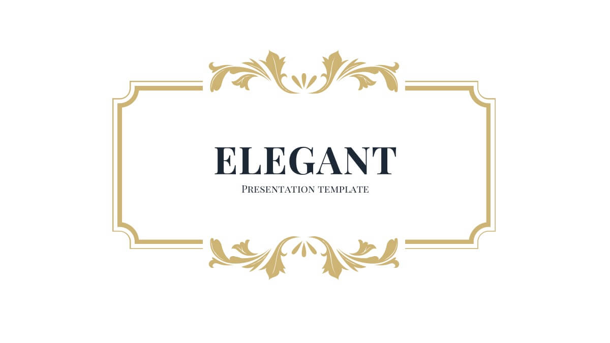 elegant free powerpoint template slide 1