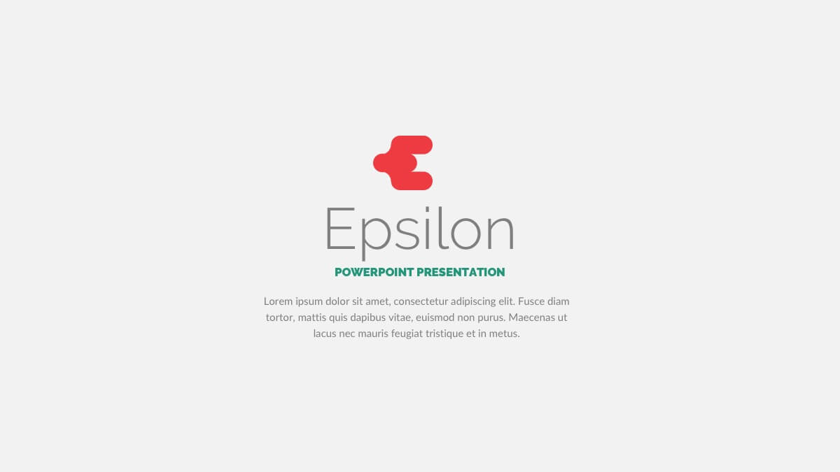 Epsilon free powerpoint template presentations on powerpointify epsilon free powerpoint template slide 1 toneelgroepblik Choice Image