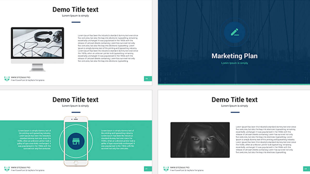 marketing plan free powerpoint template powerpointify