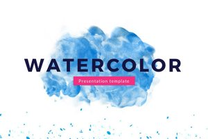 watercolor free powerpoint template art presentation