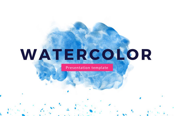 Watercolor free powerpoint template presentations on powerpointify toneelgroepblik Choice Image