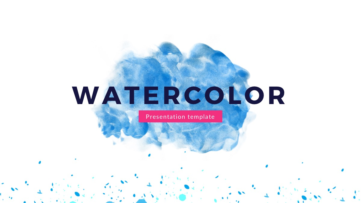 Watercolor free powerpoint template presentations on powerpointify watercolor free powerpoint template slide 1 toneelgroepblik Image collections