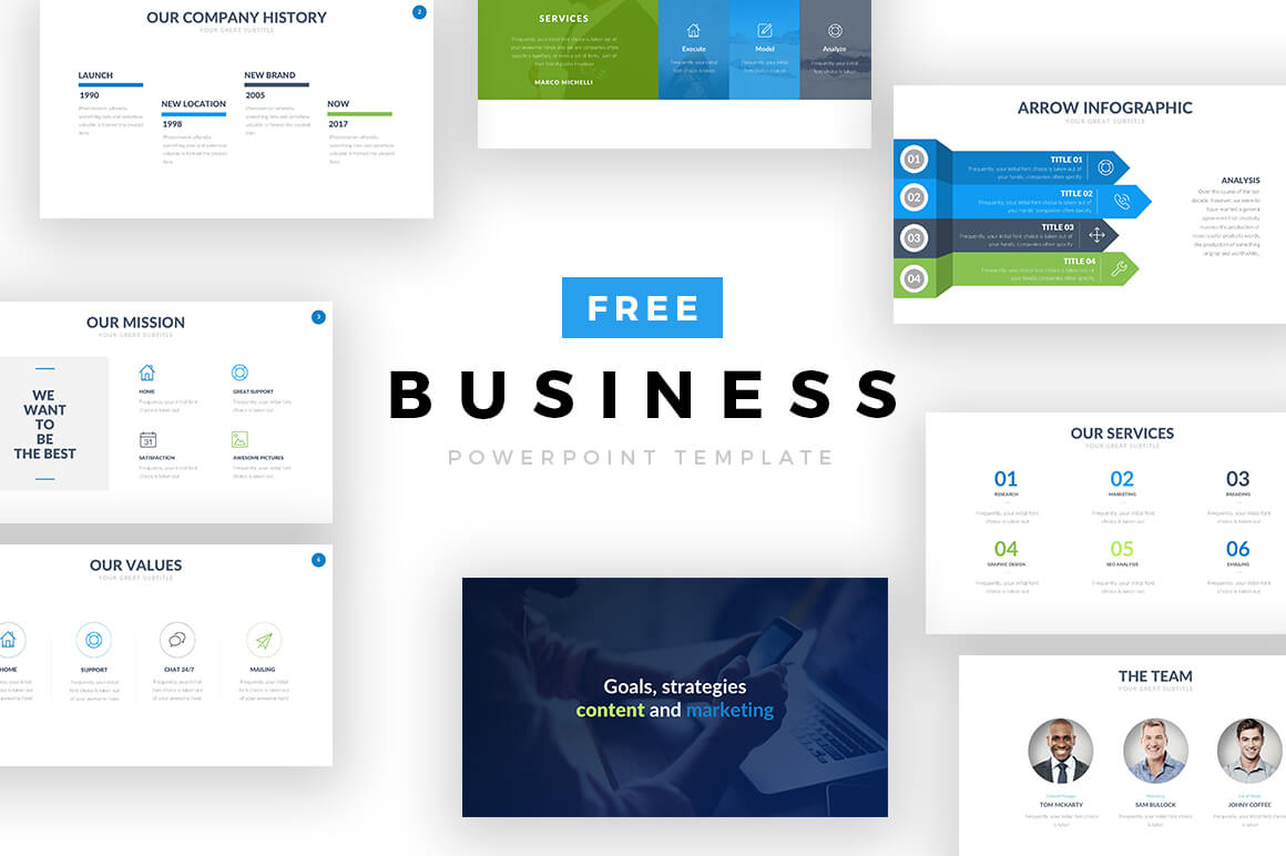 45+ Free Business Powerpoint Templates