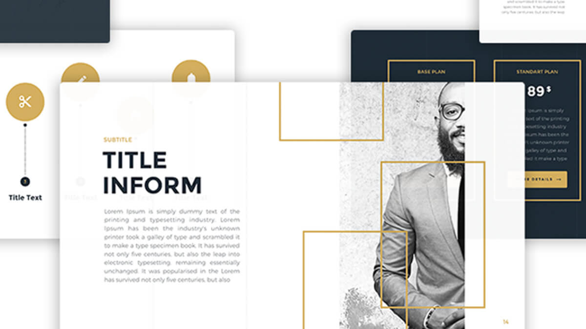 Business Gold Free Powerpoint Template