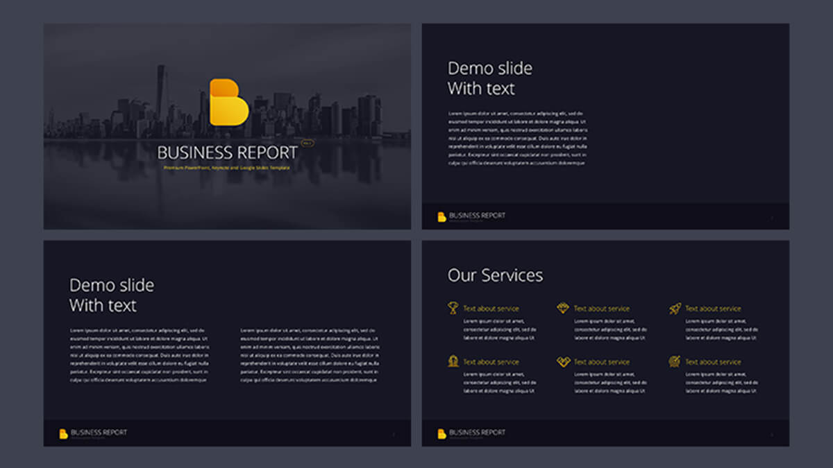 Business report pro free powerpoint template powerpointify business report pro free powerpoint template slide 1 toneelgroepblik Gallery