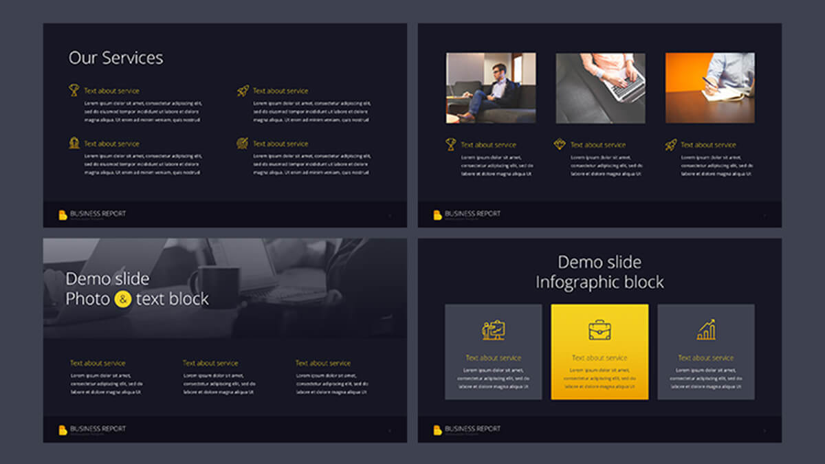 Business report pro free powerpoint template powerpointify business report pro free powerpoint template slide 2 toneelgroepblik Gallery