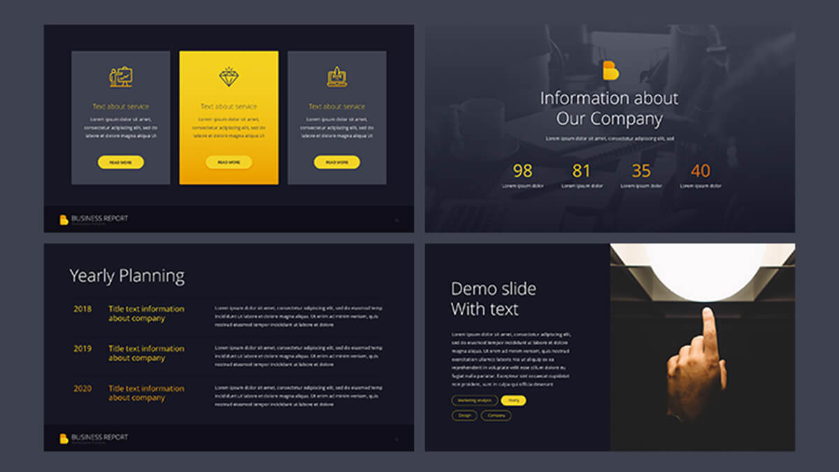 Business report pro free powerpoint template powerpointify business report pro free powerpoint template slide 3 toneelgroepblik Gallery