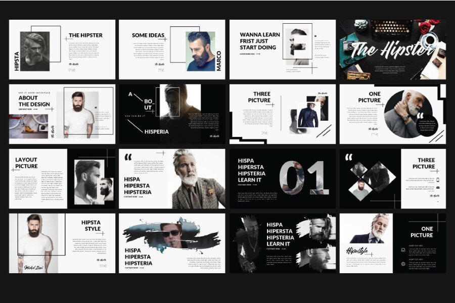 hipster free powerpoint template presentations on powerpointify