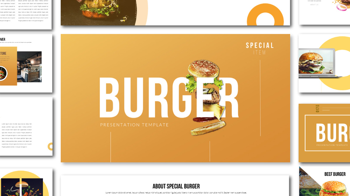 special burger free presentation template food presentation theme