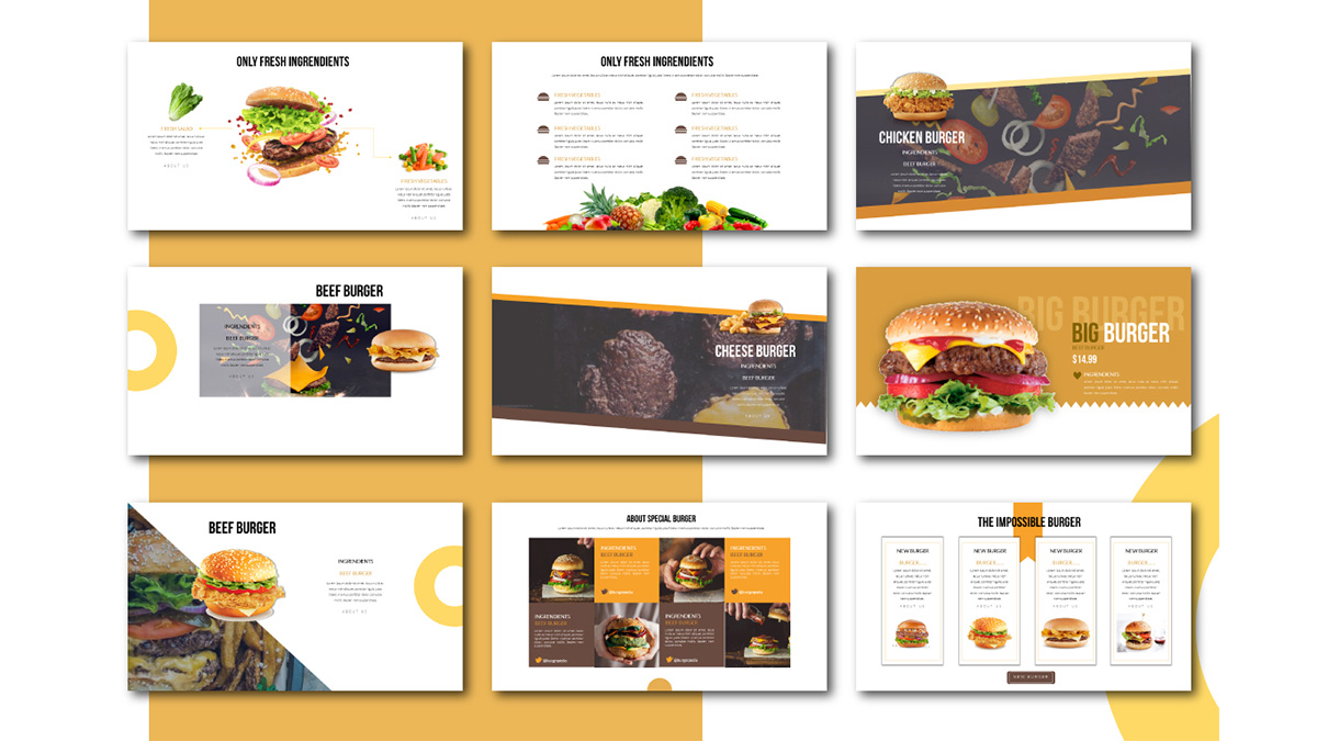 Special Burger Free Presentation Template - Food