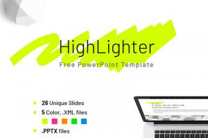 Free Company Report Highlighter Powerpoint Template