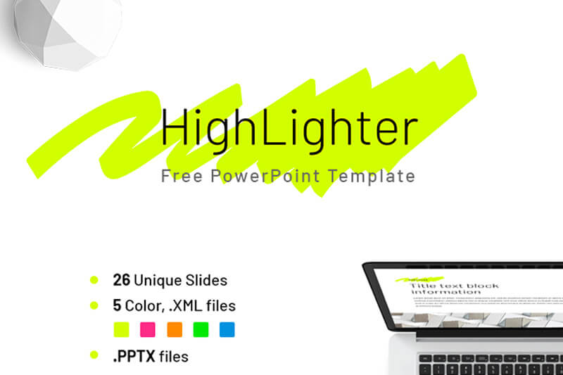 Free company report highlighter powerpoint template toneelgroepblik
