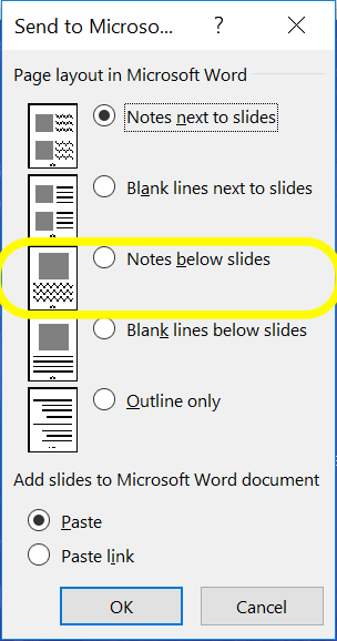 How to Print Powerpoint with Notes