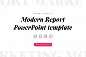 Free Modern Report Powerpoint Template - Presentations on Powerpointify