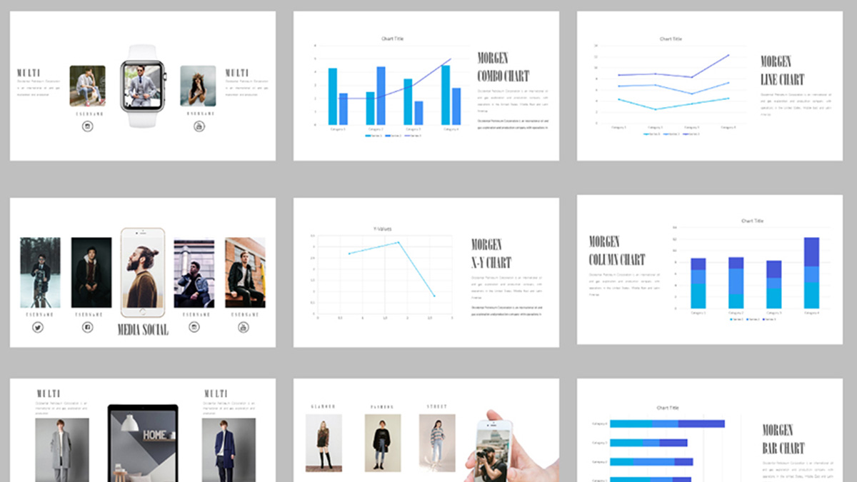 Morgen free powerpoint template minimalist free presentation morgen free powerpoint template slide 1 toneelgroepblik Image collections