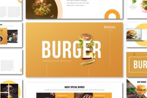 Special Burger Free food Presentation Template