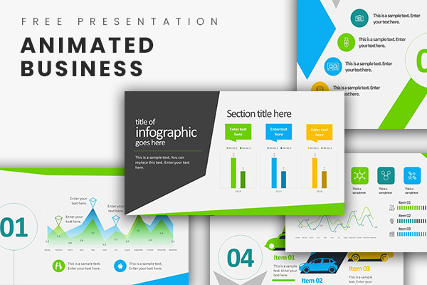 Animated business infographics free powerpoint template toneelgroepblik Gallery
