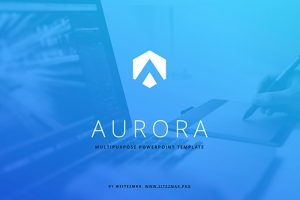 Aurora Blue Free Powerpoint Template