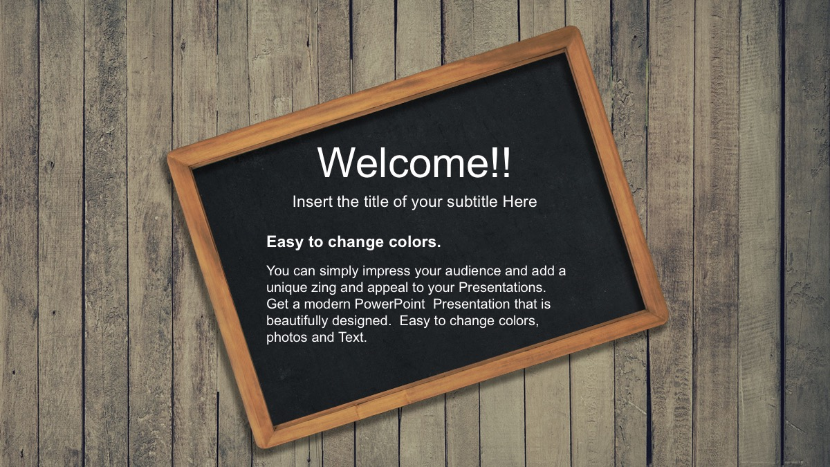 back to school free powerpoint template slide 4