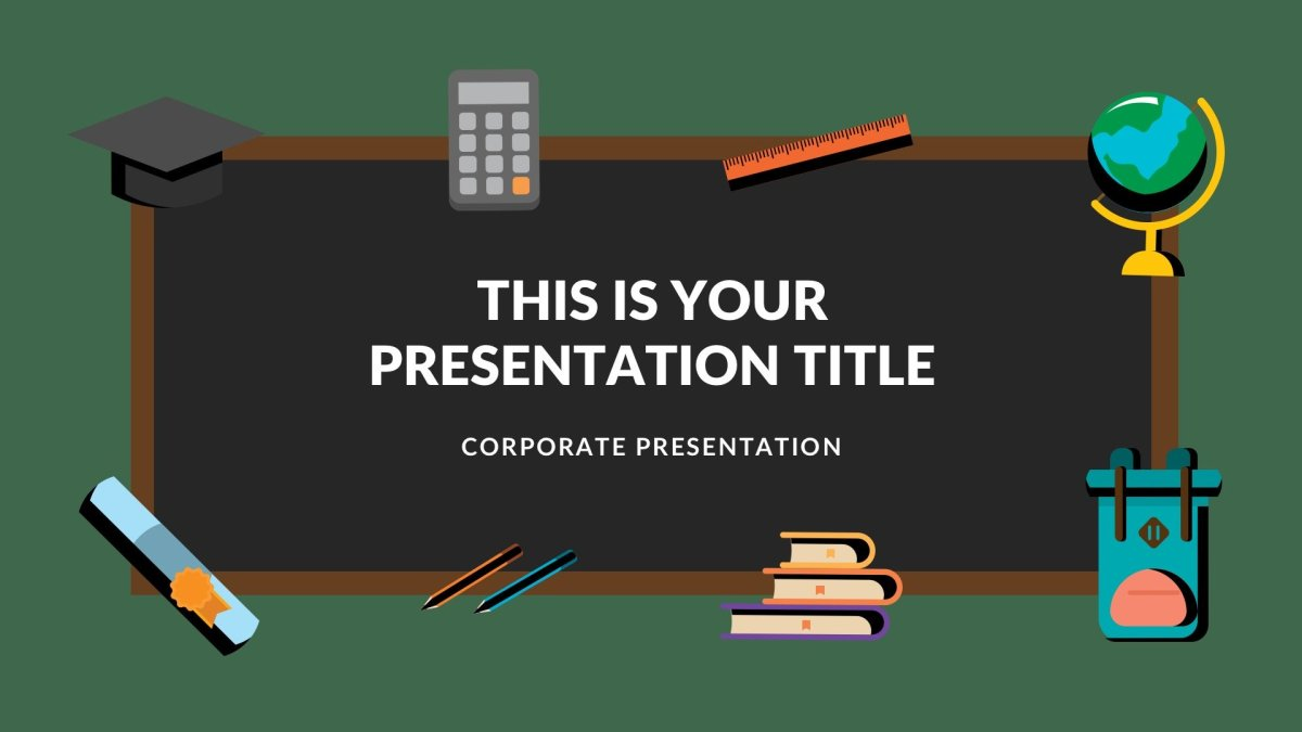 blackboard free powerpoint template