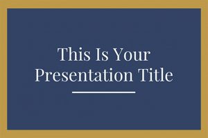 Blue and Gold Elegance Free Powerpoint Template
