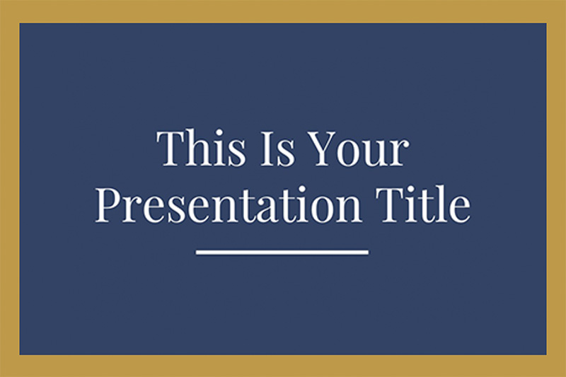 Blue and gold powerpoint template vatozozdevelopment blue and gold powerpoint template blue and gold elegance free powerpoint template toneelgroepblik Images
