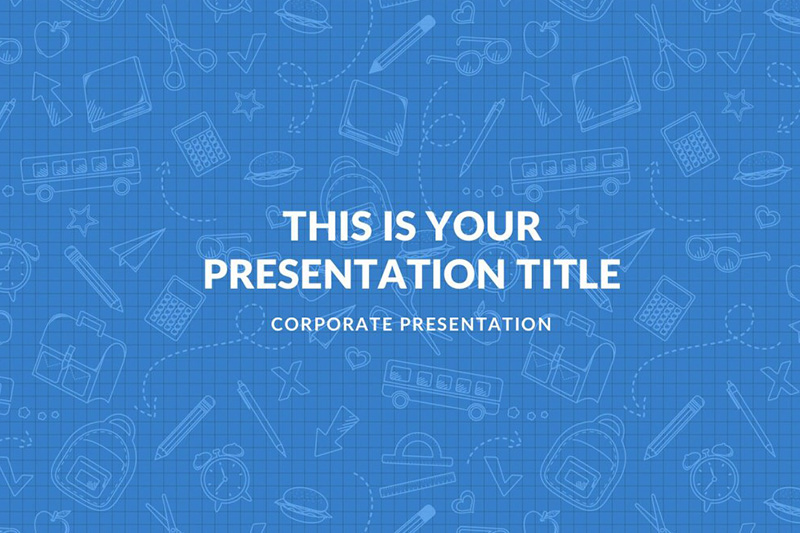 math project free powerpoint template