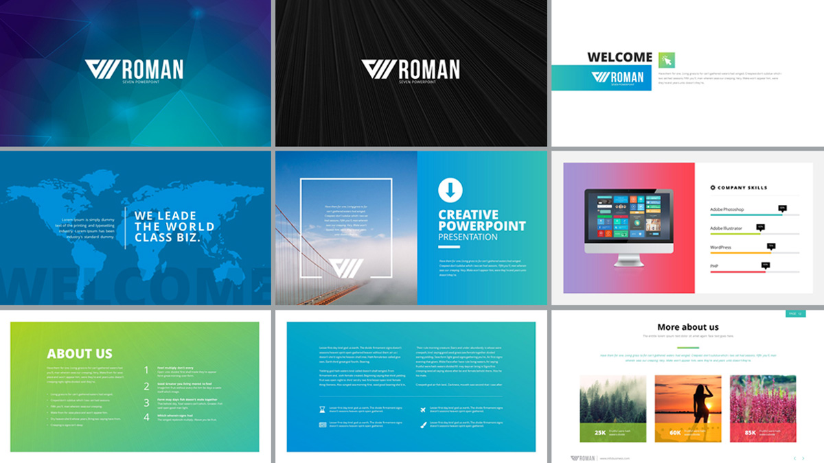 colm free powerpoint template, Technology In The Classroom Free Presentation Template, Presentation templates