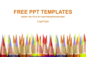 Colored Pencils Education Concept Free PowerPoint Template