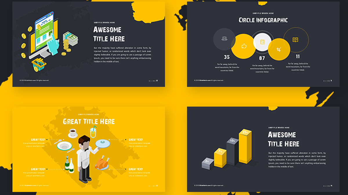 Cool Dark Brush Powerpoint Template