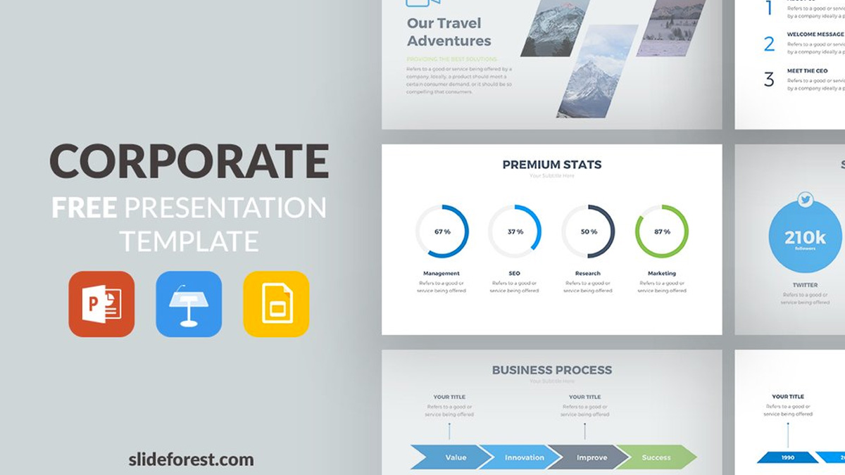 Corporate free powerpoint template corporate free powerpoint template slide 1 wajeb Gallery