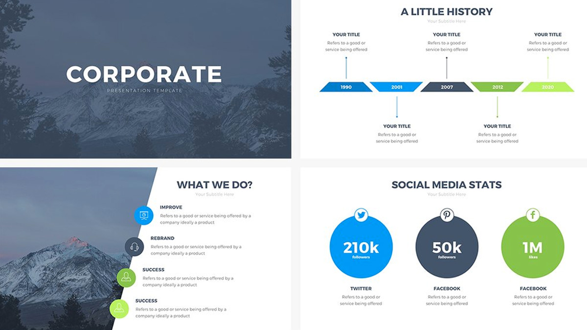 corporate free powerpoint template