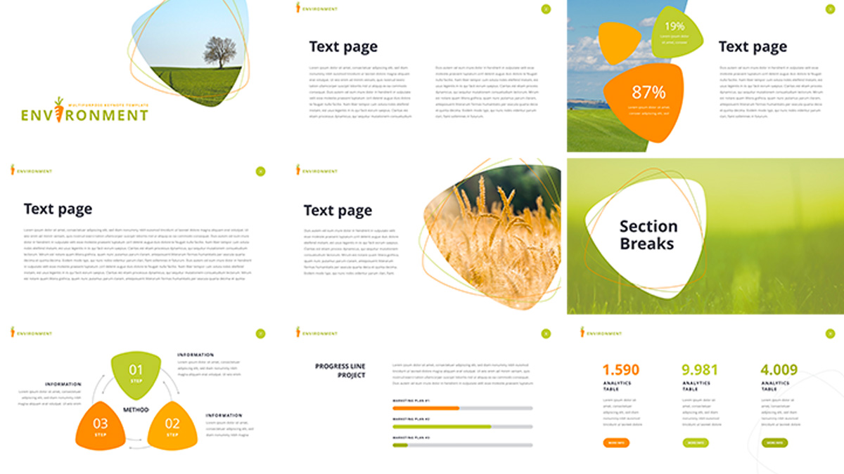 Environment free powerpoint template environment free powerpoint template slide 2 toneelgroepblik Image collections