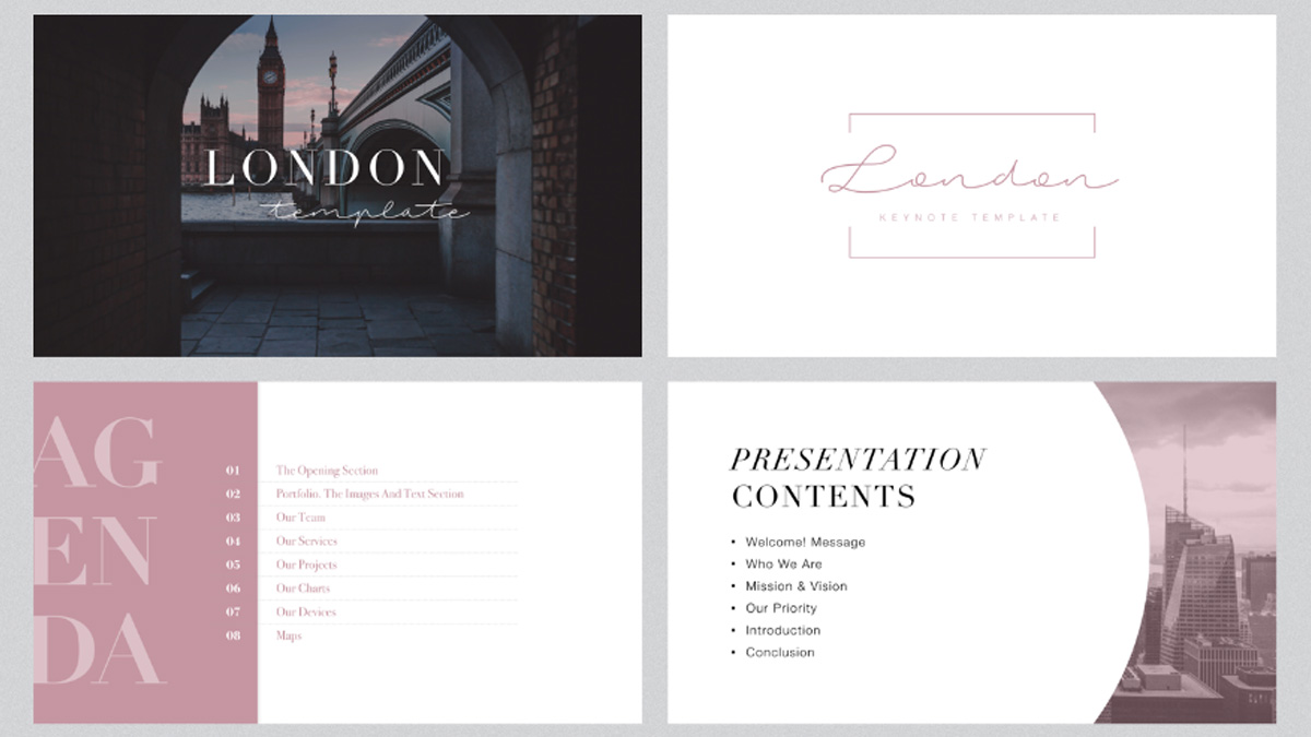 London Minimal Free Powerpoint Template