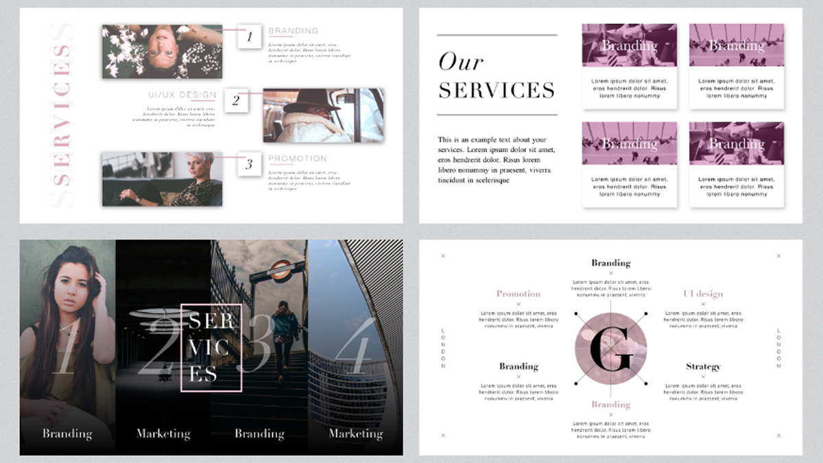 London minimal free powerpoint template london minimal free powerpoint template slide 9 toneelgroepblik Image collections