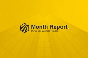 Monthly Report Free Powerpoint Template