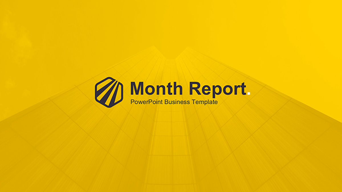 month report powerpoint template