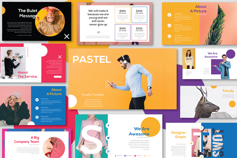 Pastel Free Powerpoint Template