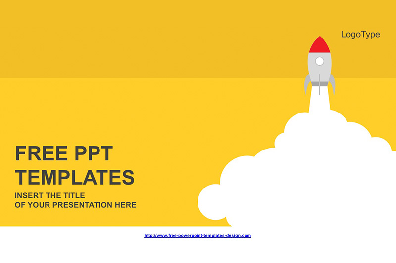Rocket Launched Free Powerpoint Template