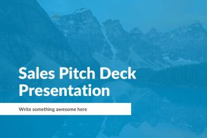 Sales Pitch Free Powerpoint Template