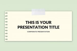 Taped Notepad Free Powerpoint Template