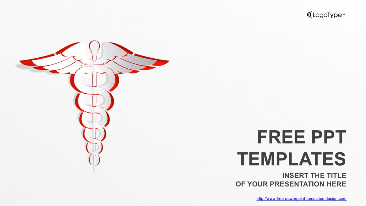 White Medical Symbol Free Powerpoint Template