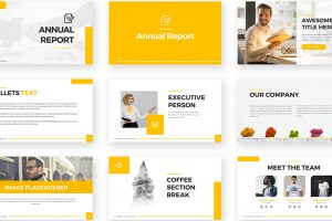 Annual Report Free Powerpoint Template