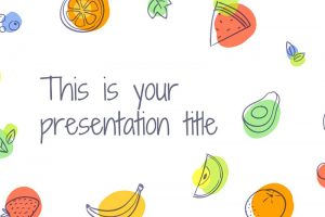 Aumerle Summer Fruits Free Powerpoint Template